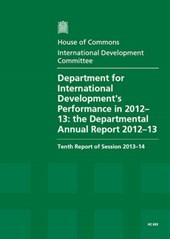 Department for International Development's Performance in 2012-13