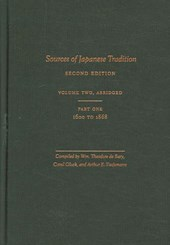 Sources of Japanese Tradition, Abridged - 1600 to 2000; Part 2: 1868 to 2000