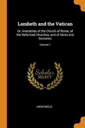 Lambeth and the Vatican