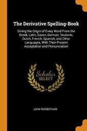 The Derivative Spelling-Book