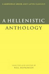 A Hellenistic Anthology   Neil (university of Cambridge) Hopkinson  