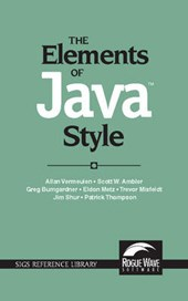 The Elements of Java (TM) Style