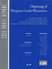 Disposing of Weapons-Grade Plutonium