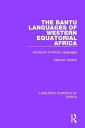 The Bantu Languages of Western Equatorial Africa
