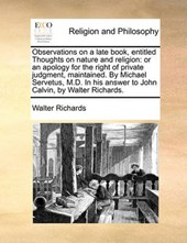 Observations on a Late Book, Entitled Thoughts on Nature and Religion