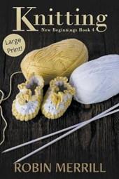 Knitting (Large Print)