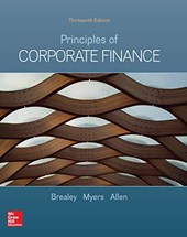 PRINCIPLES OF CORPORATE FINANCE. 13TH ED. WITH 2 YEAR ACCESS TO CONNECT