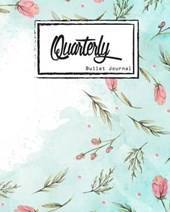 Quarterly Guided, Pink Flower and Blue Sky Notebook