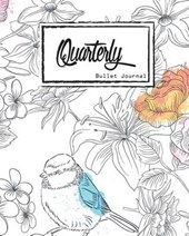 Quarterly Guided, Bird and Flower in Doodle Notebook