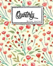Quarterly Guided, Watercolor With Red Flowers Notebook