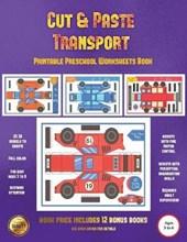 Printable Preschool Worksheets Book (Cut and Paste Transport)