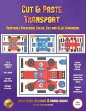 Printable Kindergarten Color, Cut and Glue Workbook (Cut and Paste Transport)