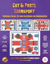 Printable Color, Cut and Glue Books for Kindergarten (Cut and Paste Transport)