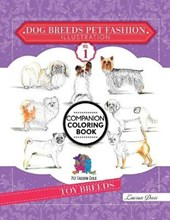 Dog Breeds Pet Fashion Illustration Encyclopedia Coloring Companion Book