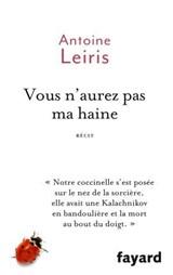 Vous n'aurez pas ma haine   Antoine Leiris  