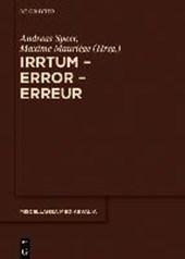 Irrtum - Error - Erreur