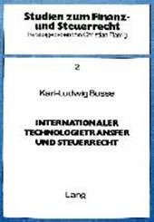Internationaler Technologietransfer und Steuerrecht