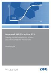 MAK- und BAT-Werte-Liste 2018