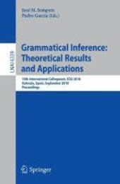 Grammatical Inference: Theoretical Results and Applications