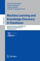Machine Learning and Knowledge Discovery in Databases, Part II