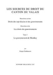 Sammlung Schweizerischer Rechtsquellen / Le gouvernement de