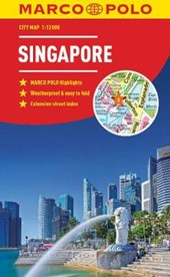 Singapore Marco Polo City Map - pocket size, easy fold, Singapore street map