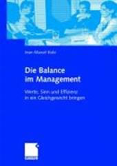 Die Balance Im Management