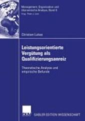 Leistungsorientierte Vergutung als Qualifizierungsanreiz
