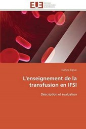 L'enseignement de la transfusion en IFSI