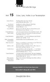 TEXT. Kritische Beiträge Heft 15: Zur Theorie und Praxis