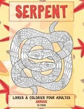 Livres a colorier pour adultes - 50 pages - Animaux - Serpent