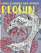 Livres a colorier pour adultes - Moins de 10 euro - Animaux Hippie - Requin