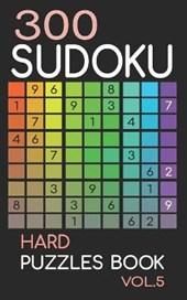 300 Sudoku Hard Puzzles Book Vol.5