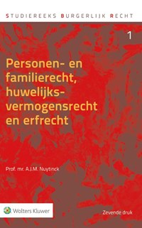 Personen- en familierecht, huwelijksvermogensrecht en erfrecht | A.J.M. Nuytinck |