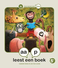 aap leest een boek   Isabelle Gielen  