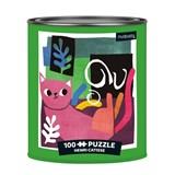 Henri catisse artsy cats 100 piece puzzle tin | angie rozelaar | 9780735362901