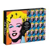 Warhol marilyn 500 piece double sided puzzle | Galison | 9780735364899