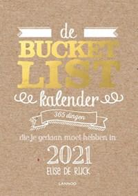 De Bucketlist scheurkalender 2021   Elise De Rijck  