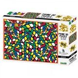 Puzzel Rubiks Geeked 3D 500   auteur onbekend   0670889101091