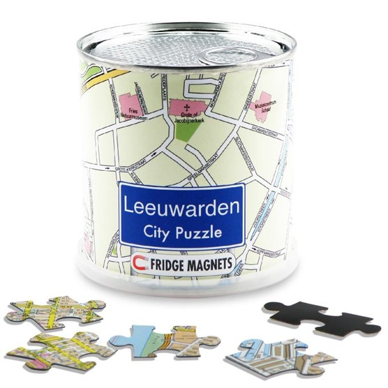 Leeuwarden city puzzle magnets