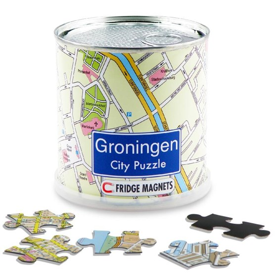 Groningen city puzzle magnets