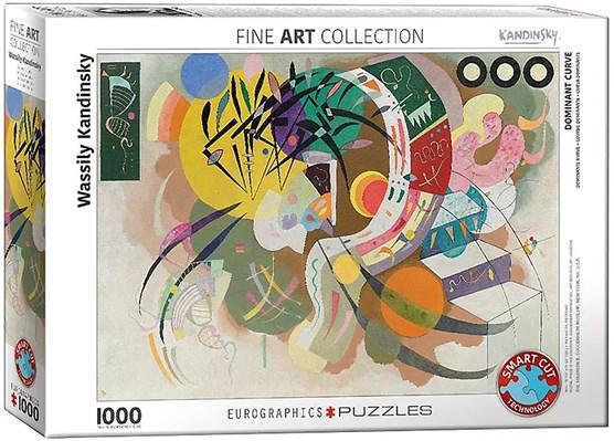 Wassily Kandinsky 'Dominant curve' puzzel