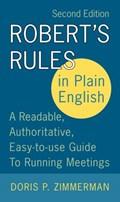 Robert's Rules in Plain English 2e   Doris P. Zimmerman  