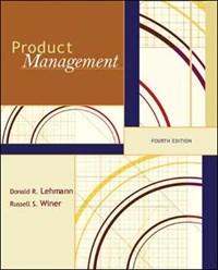 Product Management   Donald R. Lehmann  