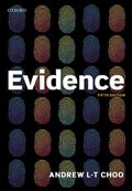 Evidence | Andrew (professor Of Law, City, University of London) Choo |