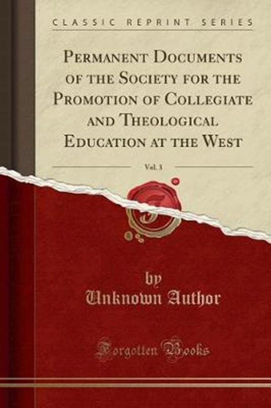 Author, U: Permanent Documents of the Society for the Promot