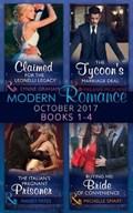 Modern Romance Collection: October 2017 Books 1 - 4   Graham, Lynne ; Smart, Michelle ; Yates, Maisey ; Crews, Caitlin  