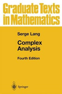 Complex Analysis | Serge Lang |