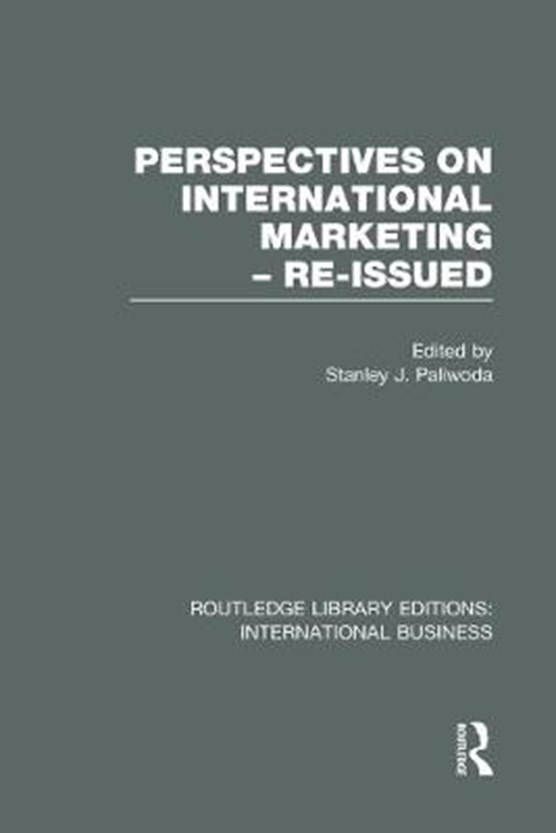 Perspectives on International Marketing - Re-issued