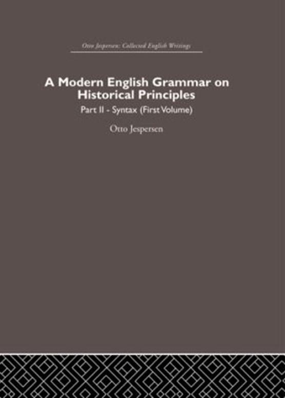 A Modern English Grammar on Historical Principles